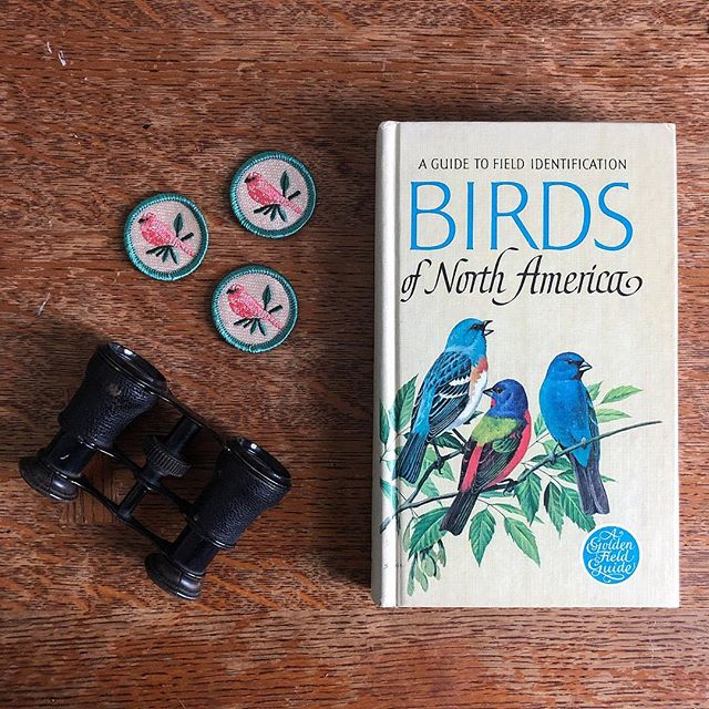 "The May badge of the month is ... #birdwatching! ""Birding"" can be done anywhere, at any time of the year. It's inexpensive and relaxing, and it involves you in nature and conservation! If you're interested in observing and identifying our feathered friends, make sure you're signed up for the #badgeofthemonthclub newsletter, which will go out later today. 🦢 🐦 🦅 🦉🦆🦜🦚🐓🕊🦃🐤 (Wow there are a lot of bird emojis!) . . . #birding #birds #birdwatching #birdsofinstagram #wildlife #naturelovers #birdlovers #birdstagram #birdlife #aves #instabird #birdnerd"