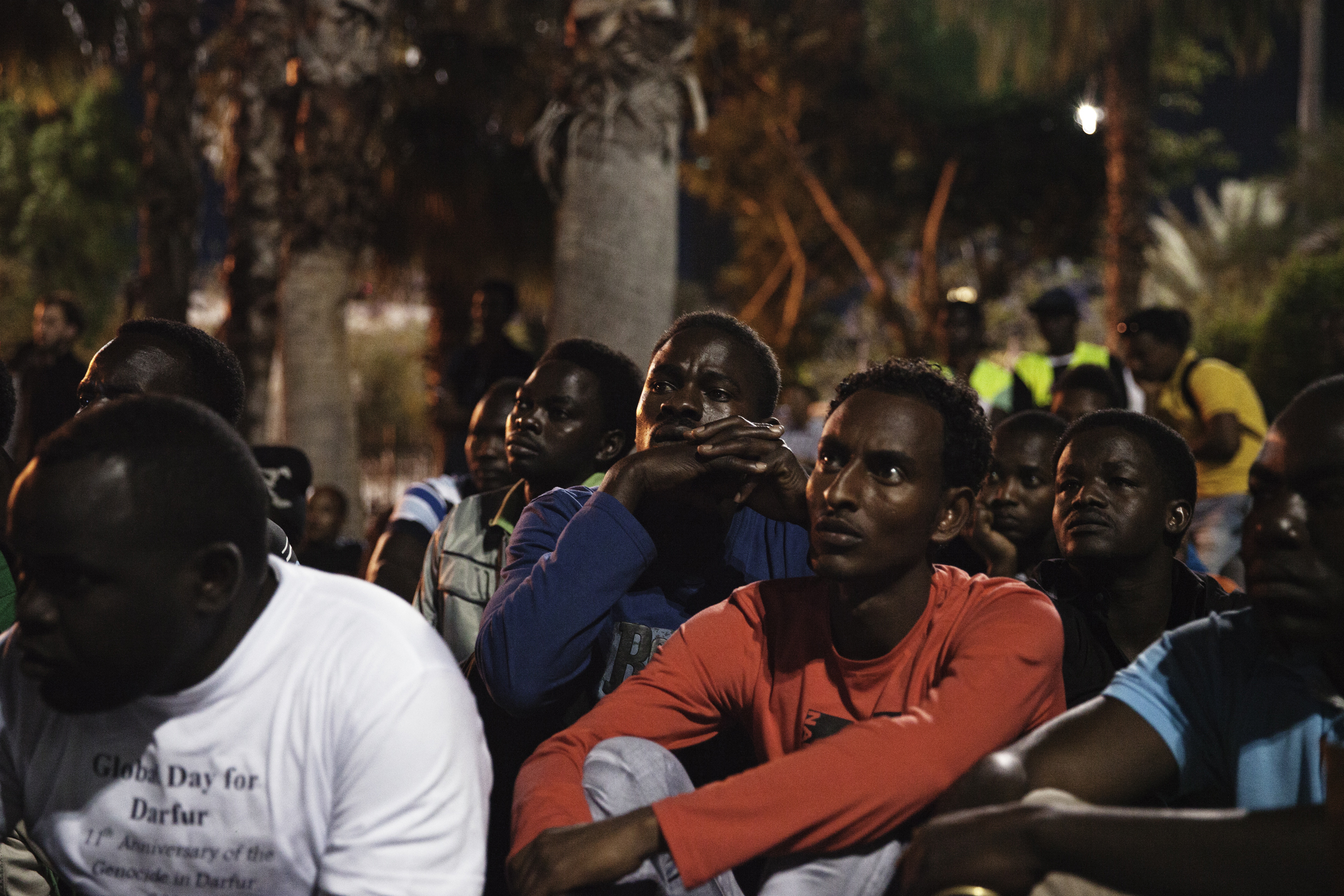 In the same week that people in Israel honor Holocaust Remembrance Day, a group of African asylum-seekers gathered in Levinsky Park, Tel Aviv for Global Darfur Day to commemorate the ongoing genocide in Darfur. Israel has yet to recognize a single Sudanese national as a refugee.