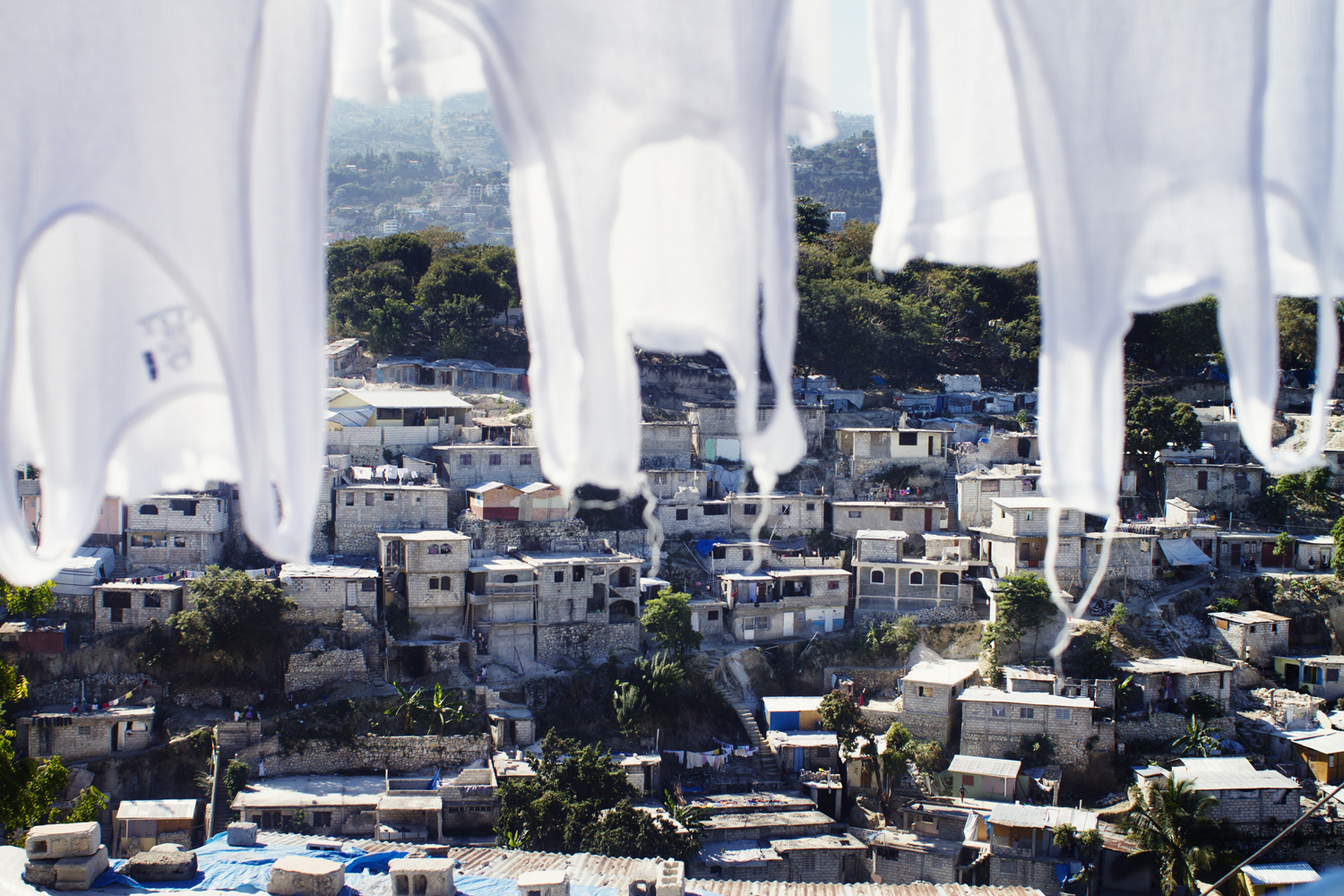 Views of Nerette in Port-au-Prince, a residential area where many houses are still needing repairs. 2012.