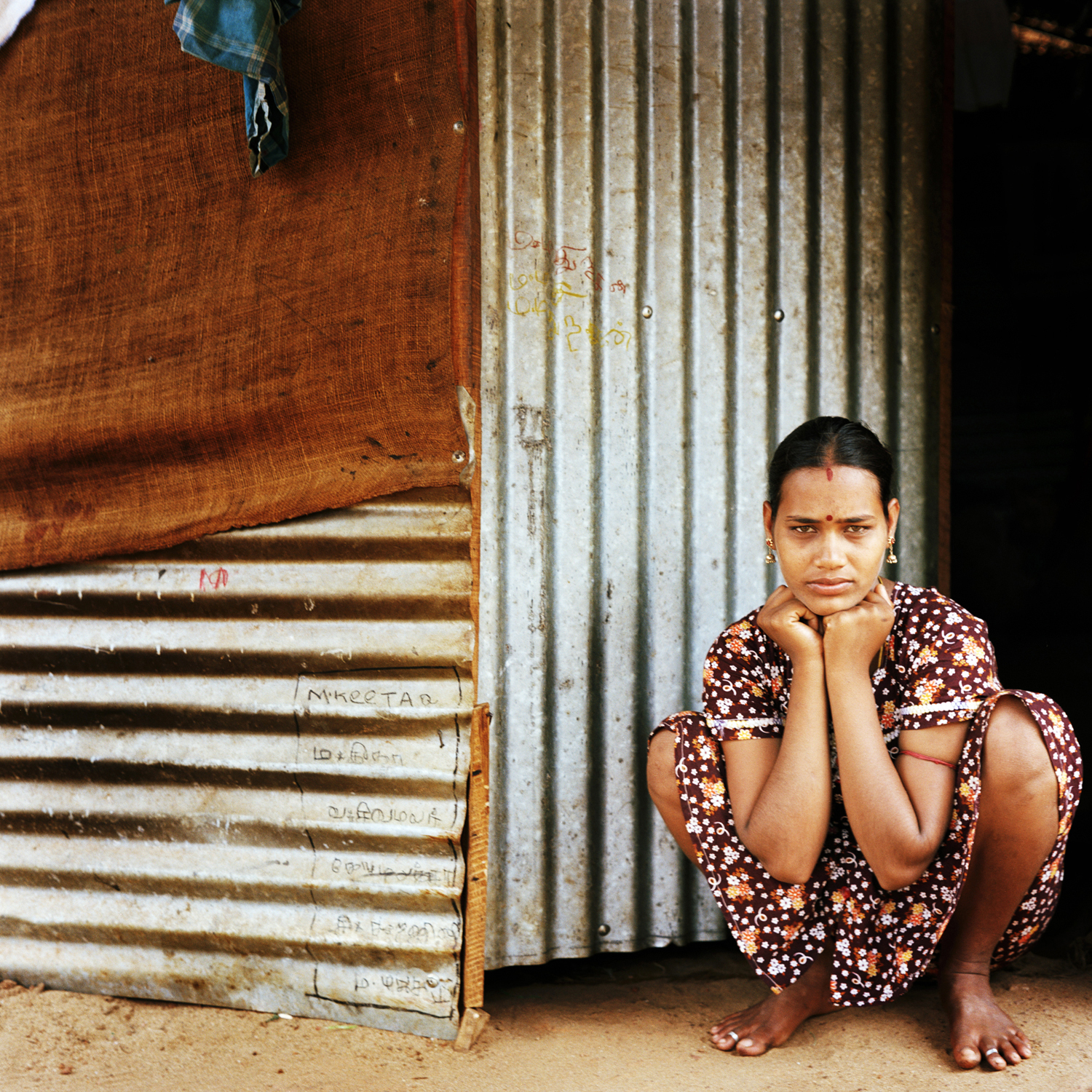 Woman in IDP camp, Batticaloa, Sri Lanka, 2007.