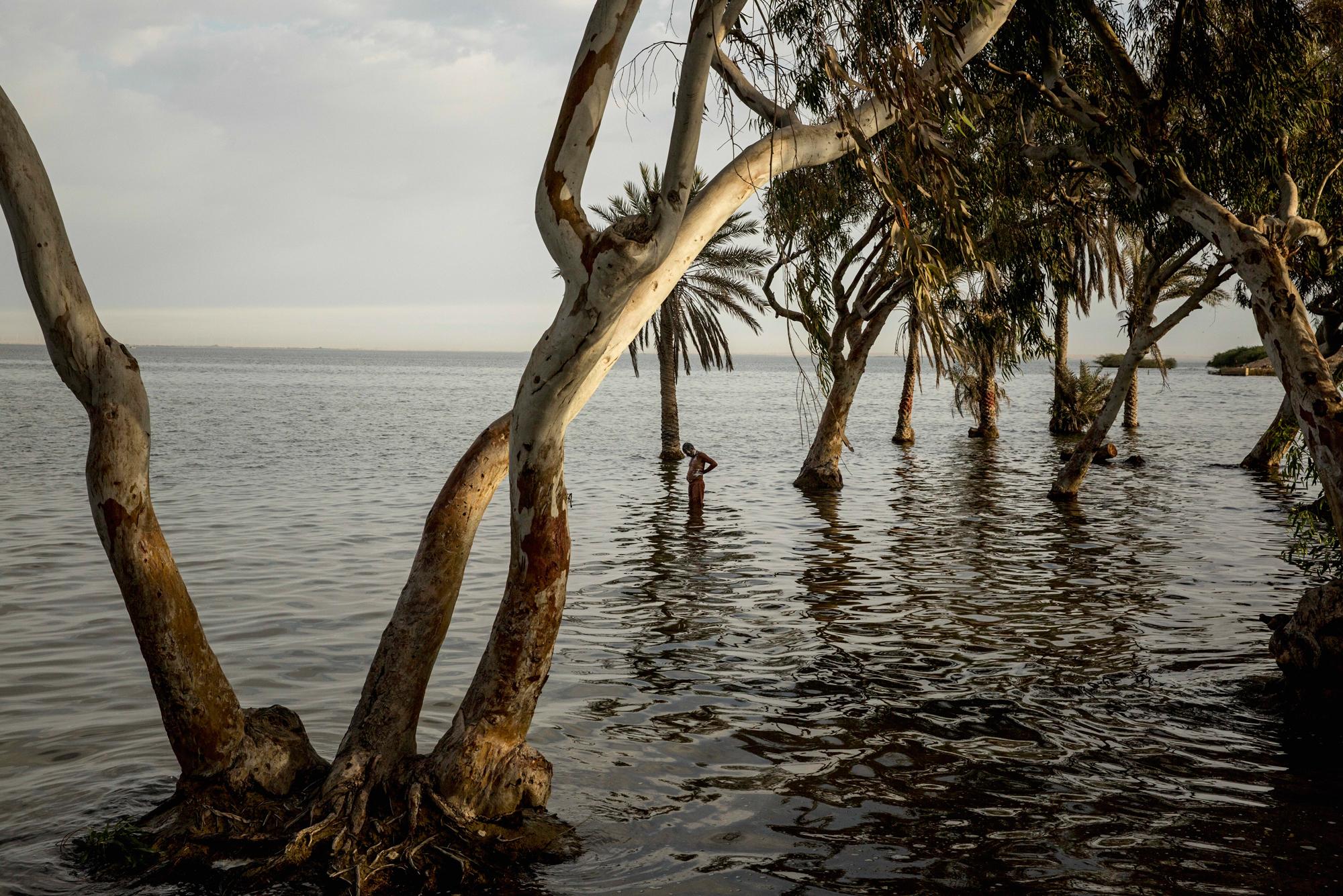 Keenjhar Lake in Thatta is a reservoir that serves the city of Karachi's 16.6 million inhabitant