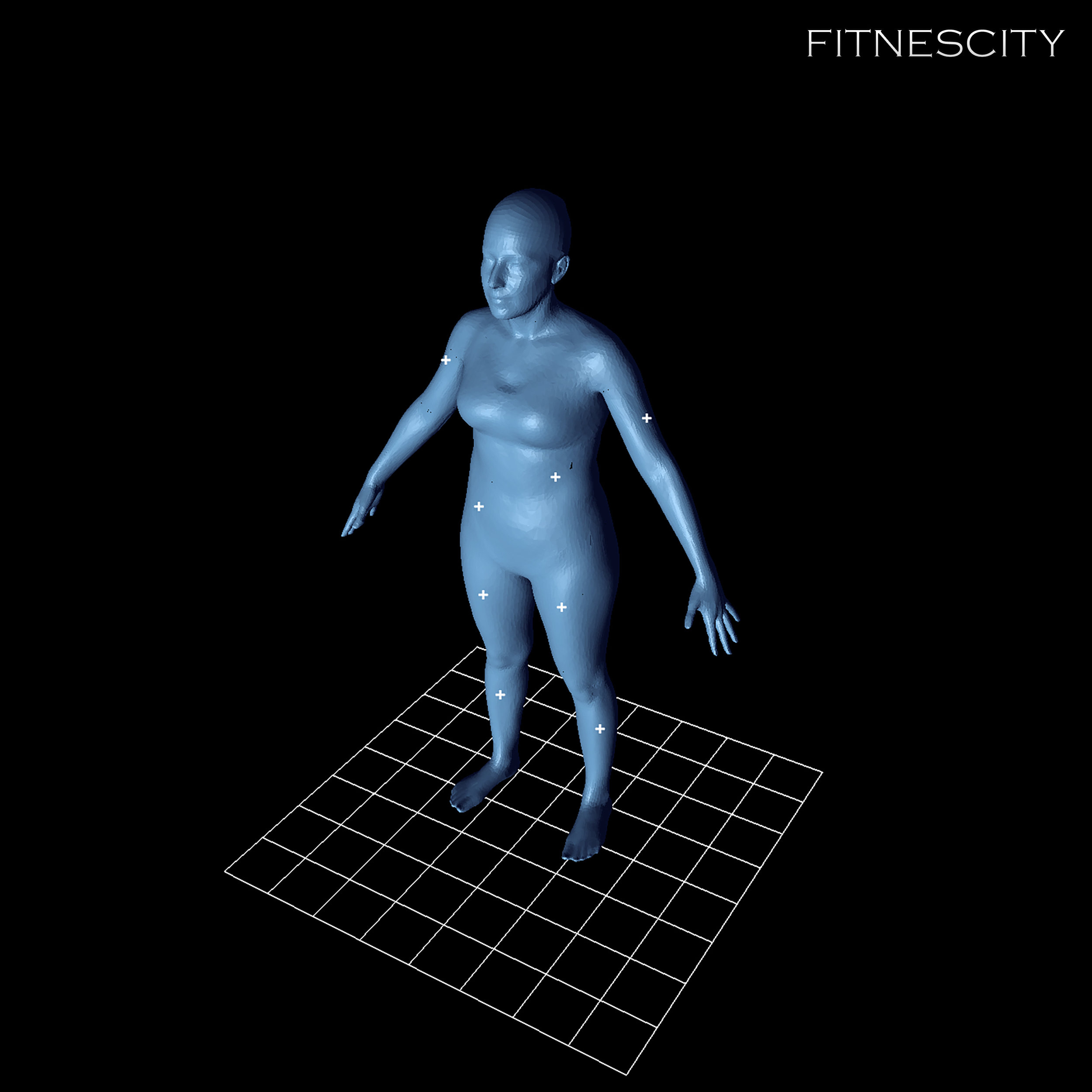 3D Body Model of an Individual with a BMI of 22.