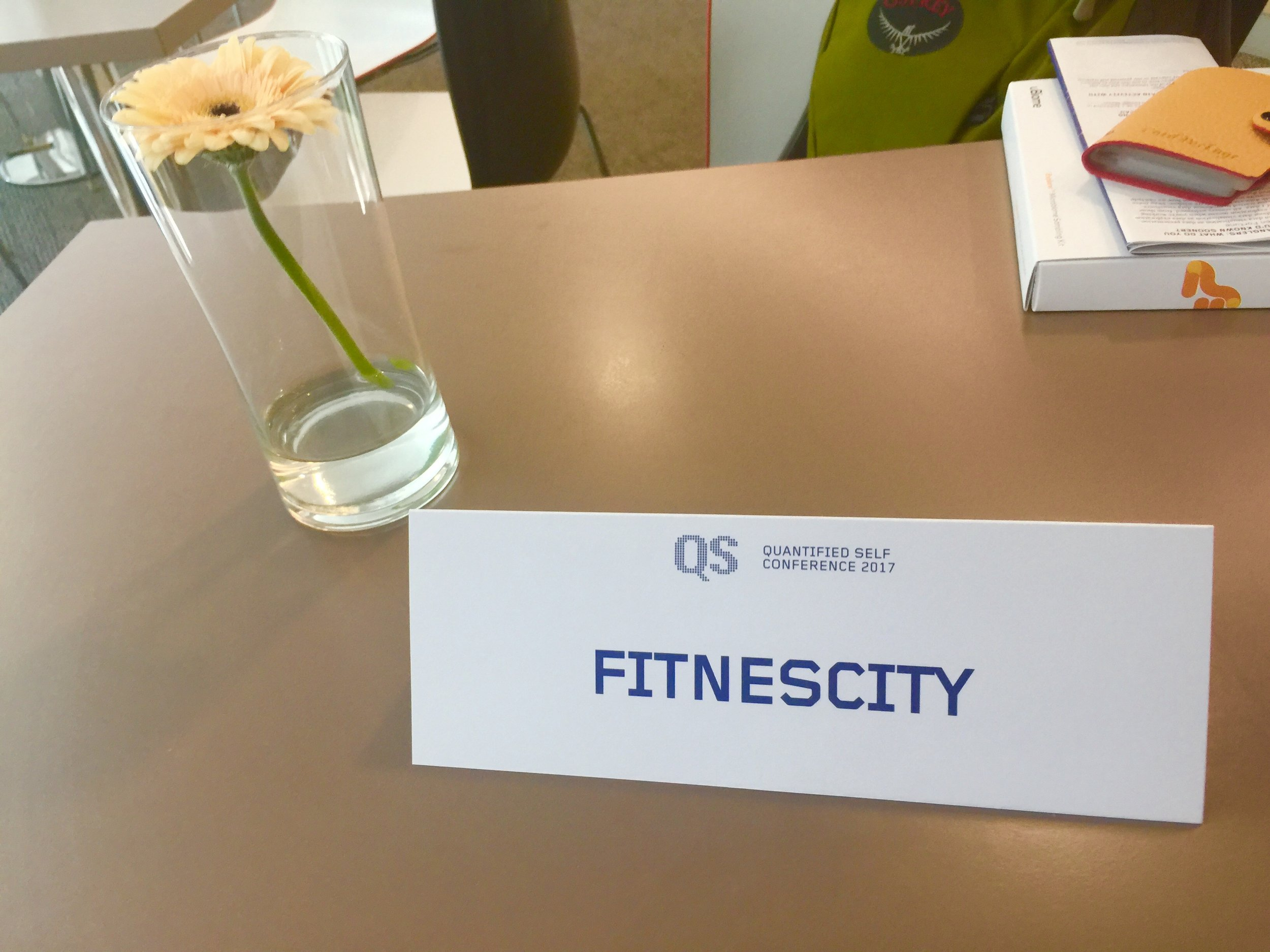 Fitnescity at the 2017 Quantified Self Conference