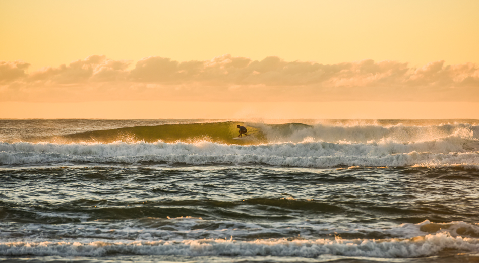 Northwall Beach, Ballina. Hot spot area for increased shark activity and numerous attacks. Surfer: Rhian Slapp @rhianjames Photo: Angie Davis @angelahelendavis