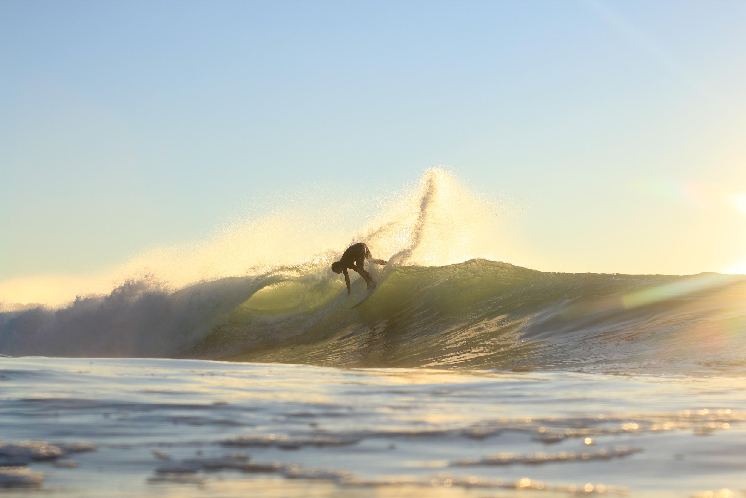 Surfer Dustin Hollick @dustohollick on a sketchy morning swim out at Northwall Ballina last year. Photo: Angie Davis @angelahelendavis
