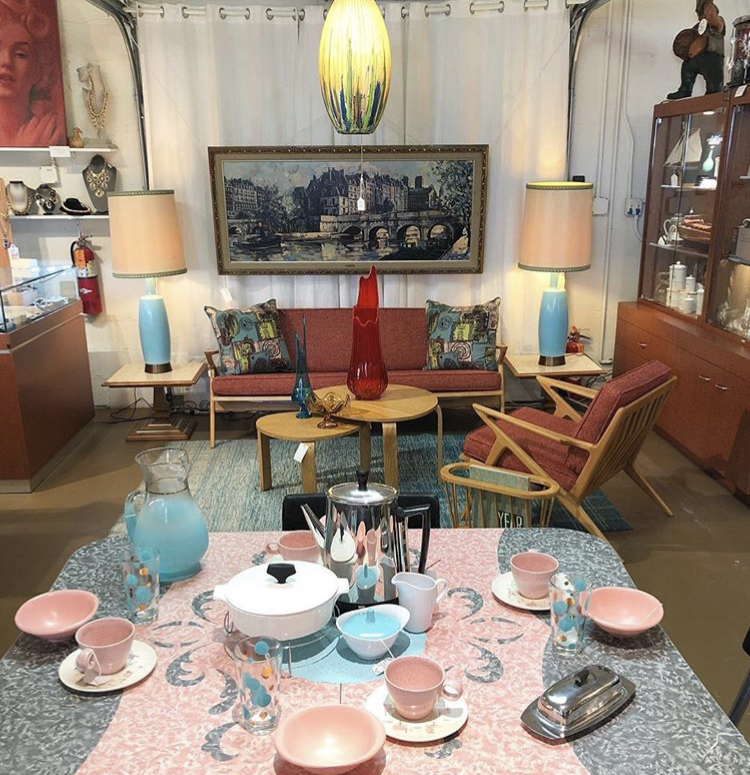Photo courtesy of @antiquegallerieps   Antique Galleries  // 505 E Industrial Place  A collective of EVERYTHING from the mid-century and other vintage periods.