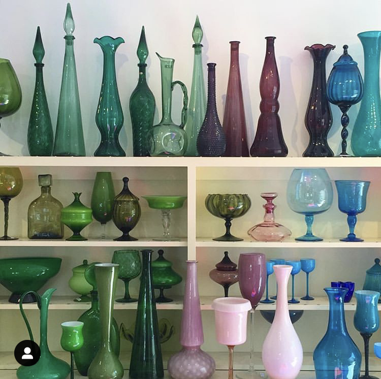 Photo courtesy @visitpalmsprings   Bon Vivant  // 766 N Palm Canyon Dr  Well-priced mid-century home decor shop. We bought most of the glassware pieces at  Soukie Kasbah  (our ainbnb) here!