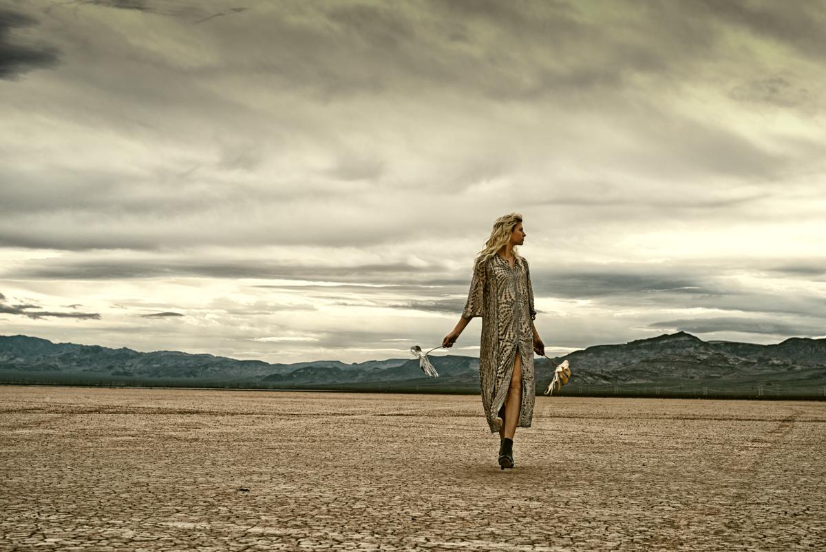 Metallic Desert Collaboration Photoshoot