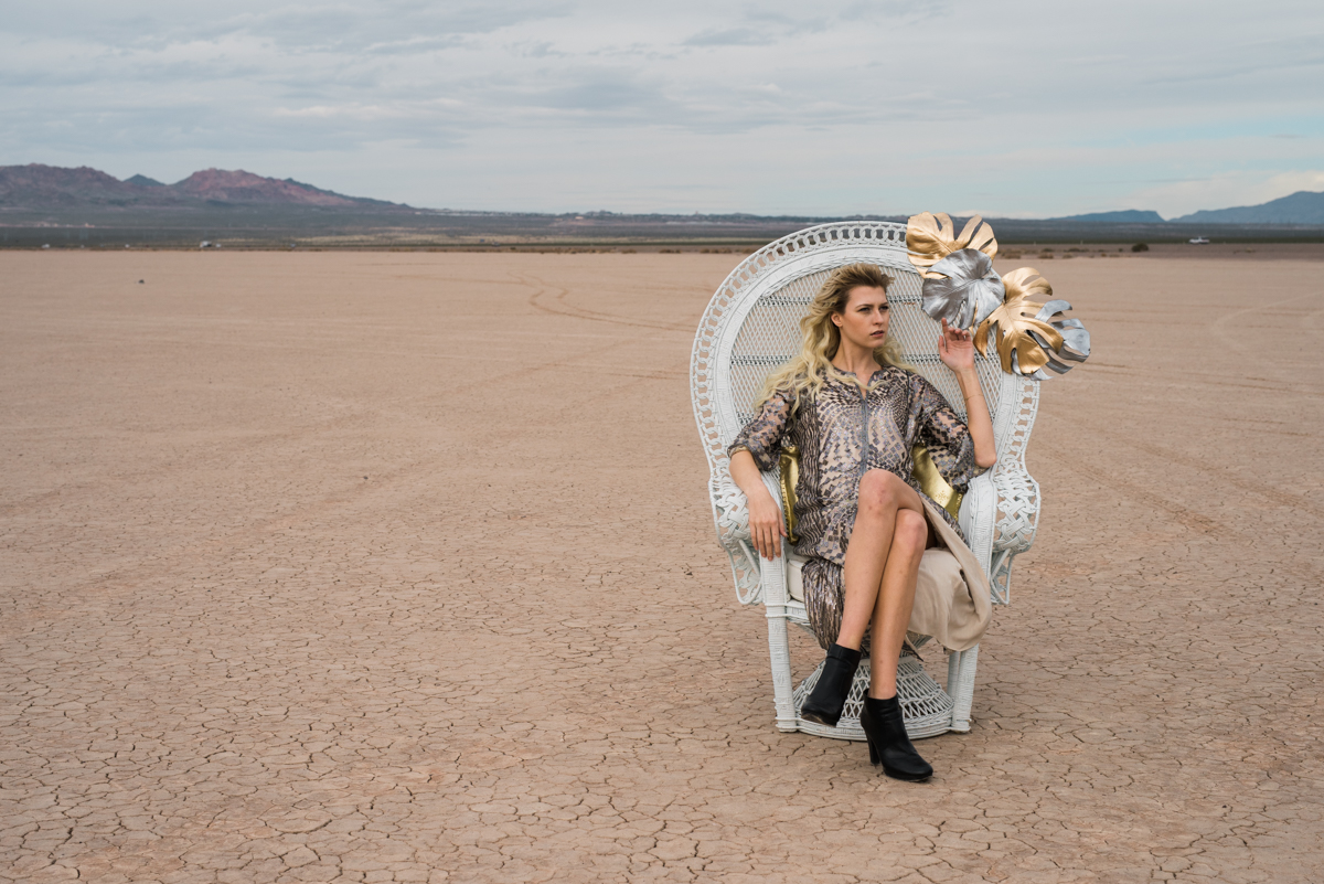 Styled photoshoot props dry lake bed
