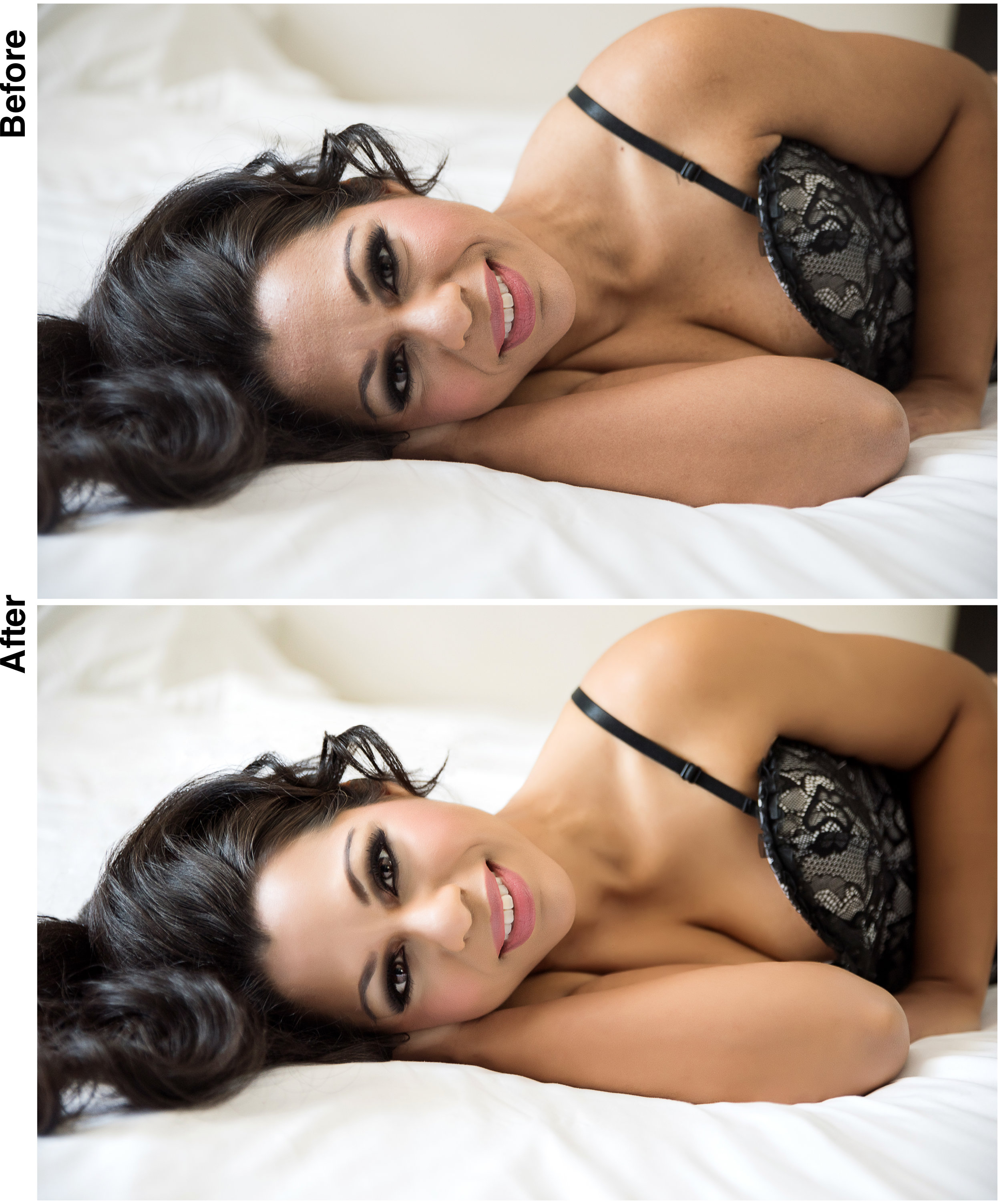 intimate portrait latino woman retouching example