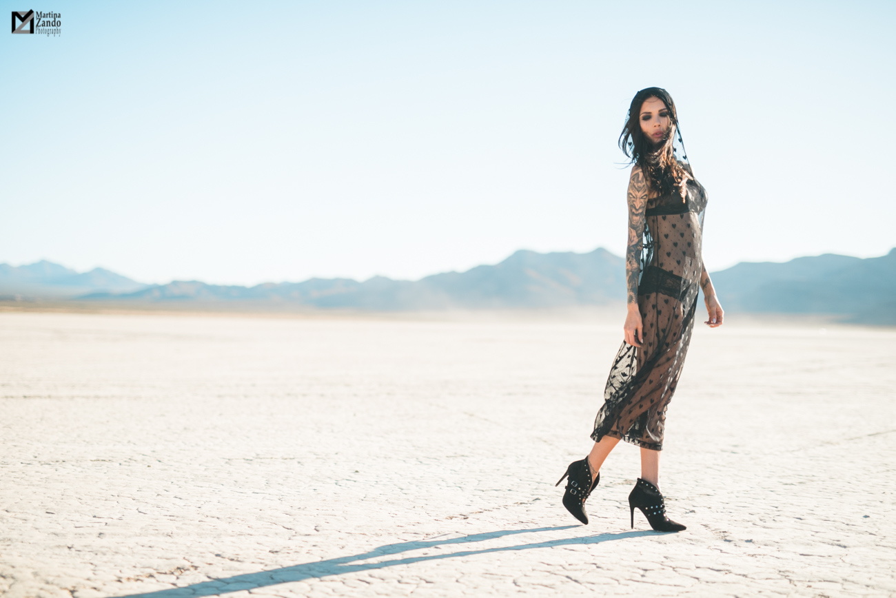 Naty Ashba desert photoshoot see through mesh dress