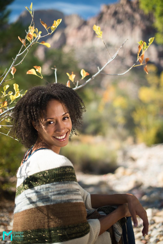 outdoor portrait of smiling Kris Blunt
