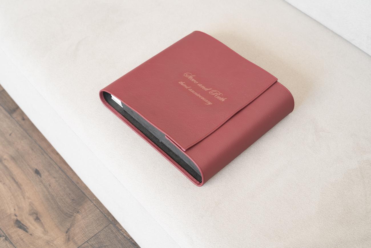 Luxury Leather Folio box- Martina Zando Photography