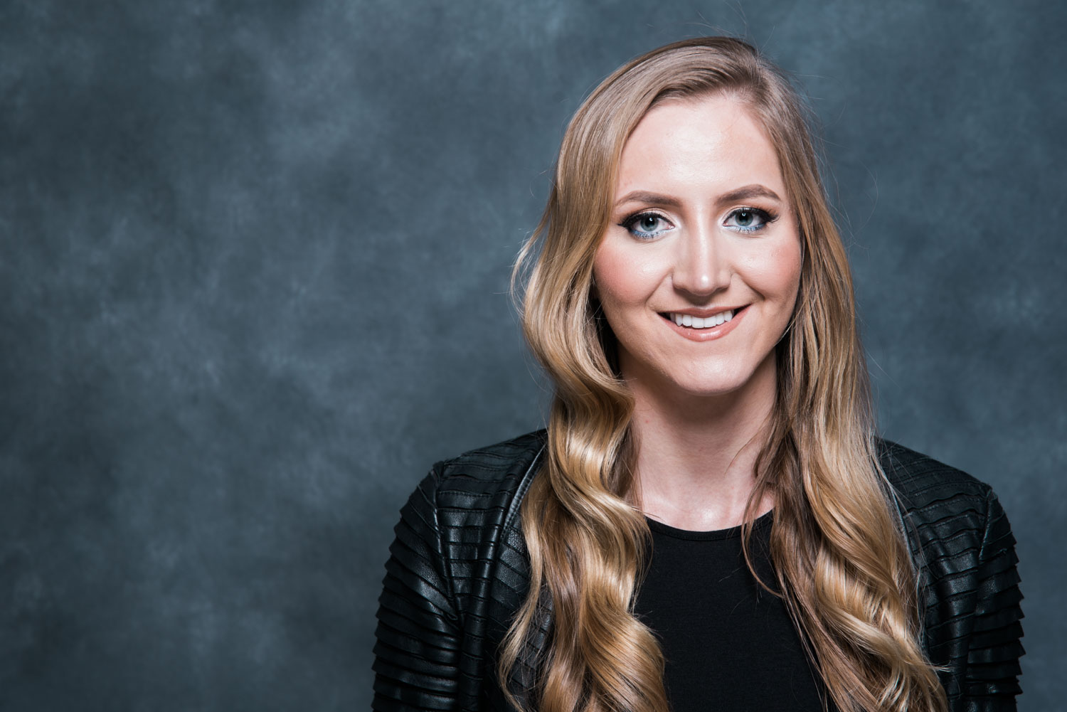 colorful headshot of female professional for personal branding