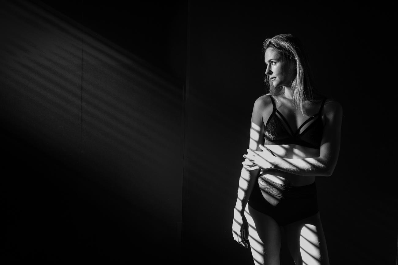 Black and white fine art boudoir photo