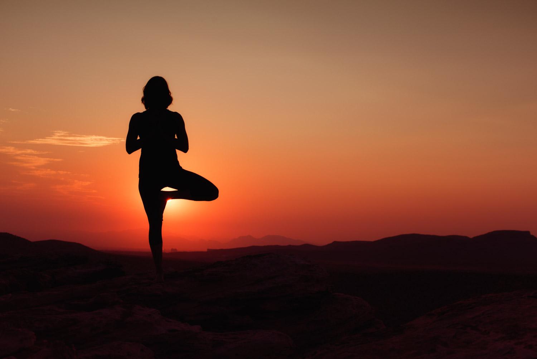 las vegas sunrise  yoga photo