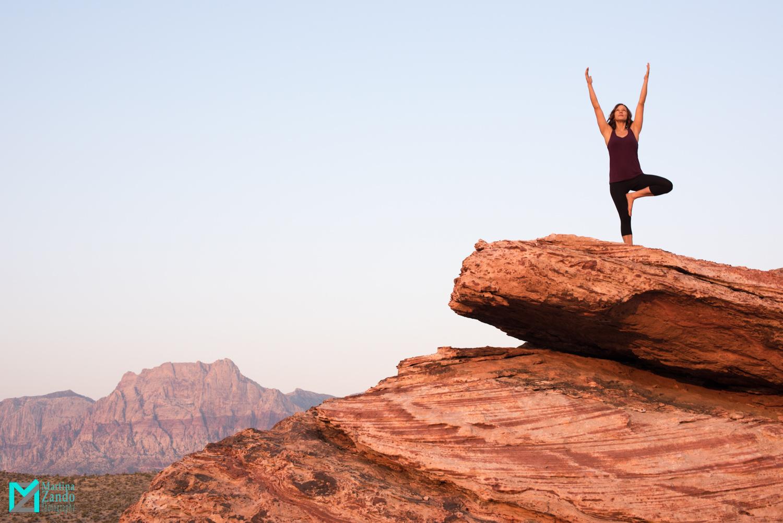 yoga pose red rock canyon