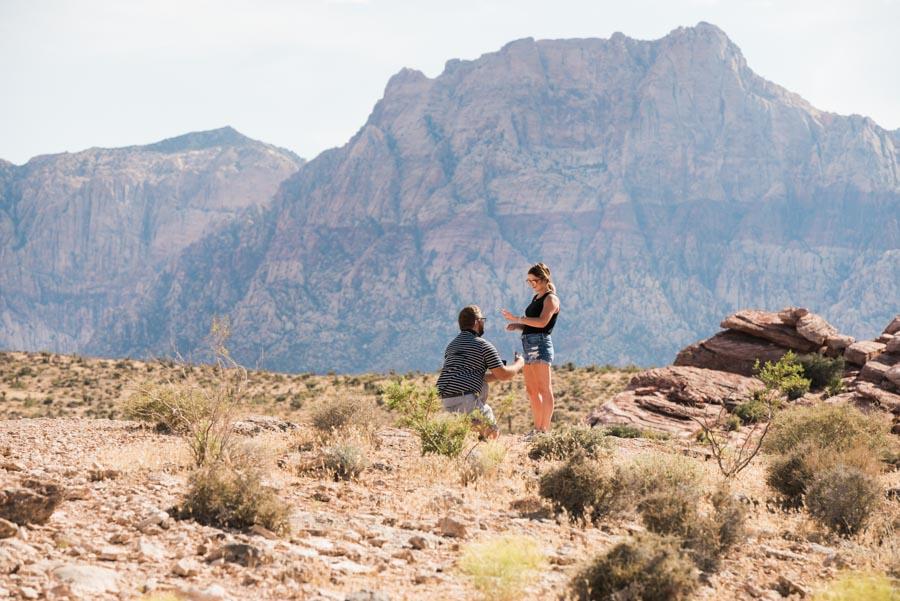 Red Rocks Surprise Wedding Proposal