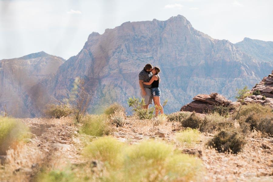 Las Vegas desert Surprise Engagement at Red Rock