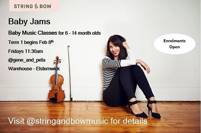 New classes starting up in February. Join the beautiful Laura for a morning of music with your bub! Contact @stringandbowmusic to enrol 🐣🎻🎼 #music #baby #elsternwick