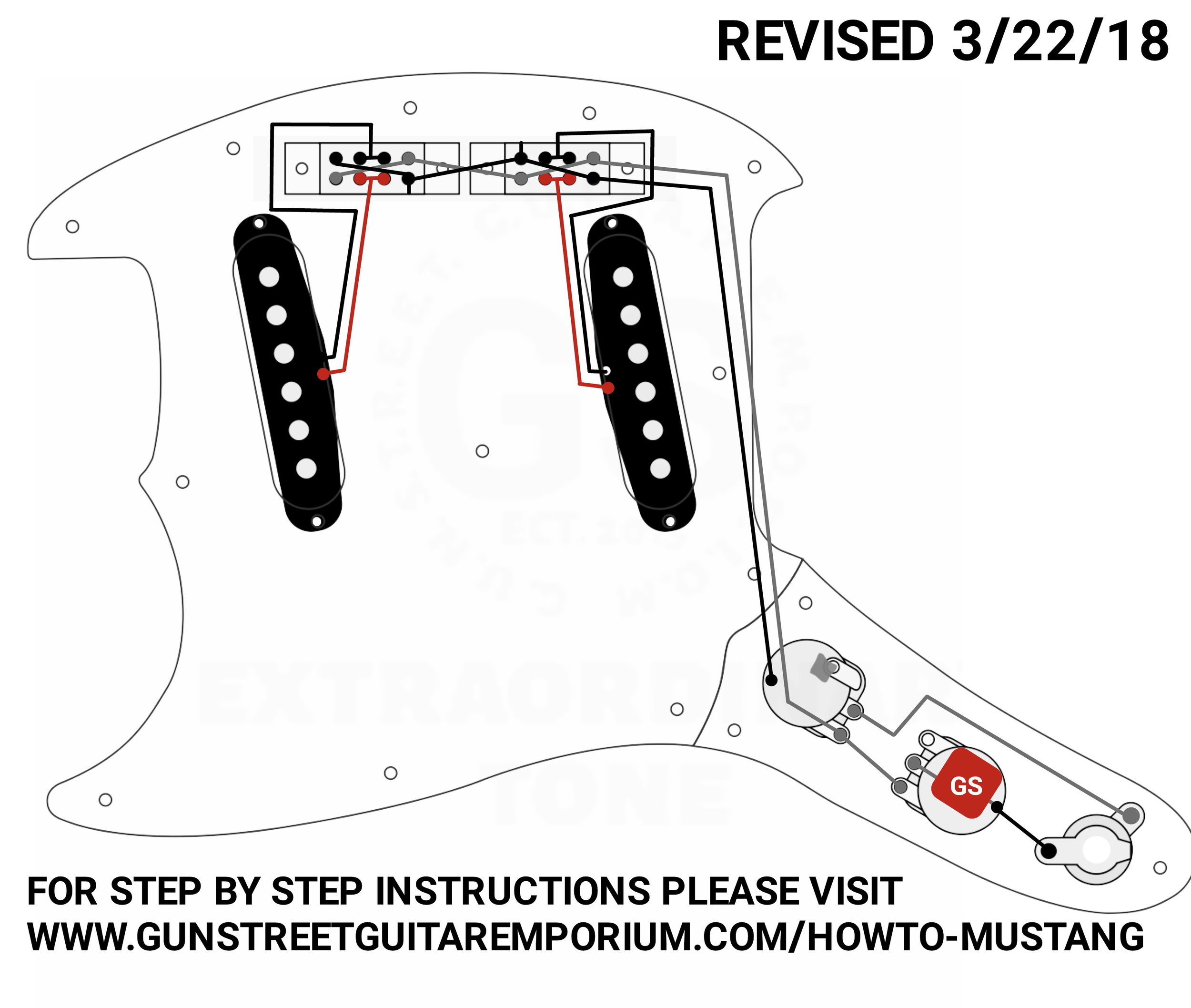 [DIAGRAM_09CH]  How to install a stock Mustang — GUNSTREET- A New Approach to the Guitar  Wiring Market | Fender Mustang Wiring Schematic |  | GUNSTREET