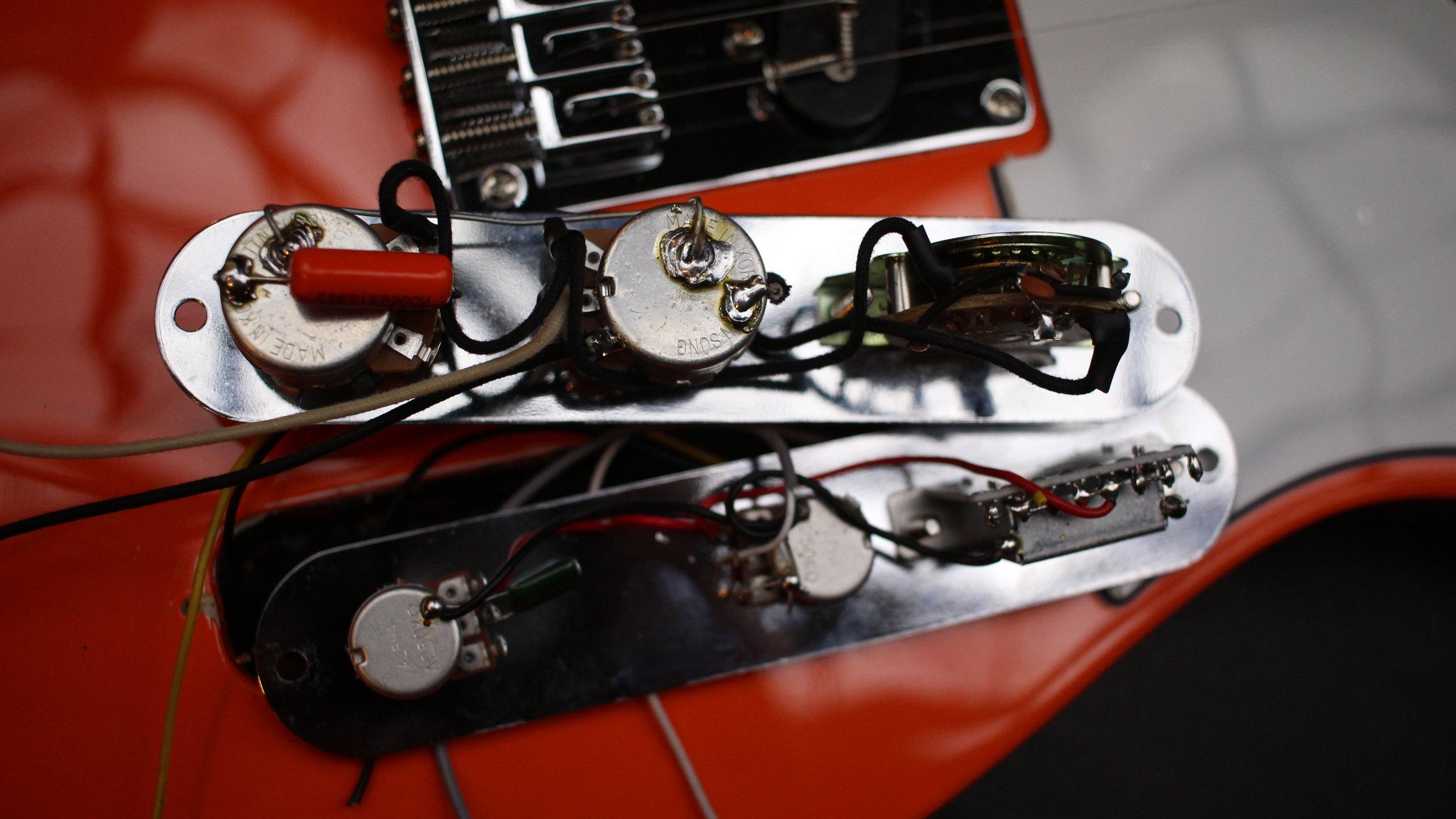 Squier affinity Telecaster Wiring vs Gunstreet wiring