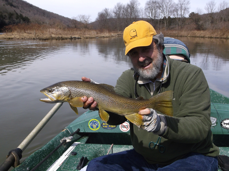 Spring trout fishing on the Delaware River with Sweetwater Guide Service