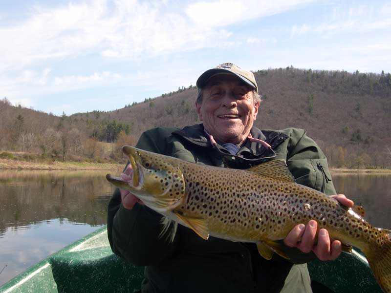Huge Brown Trout on the Delaware River with Sweetwater Guide Service