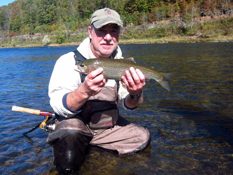 Spin fishing for trout with Sweetwater Guide Service