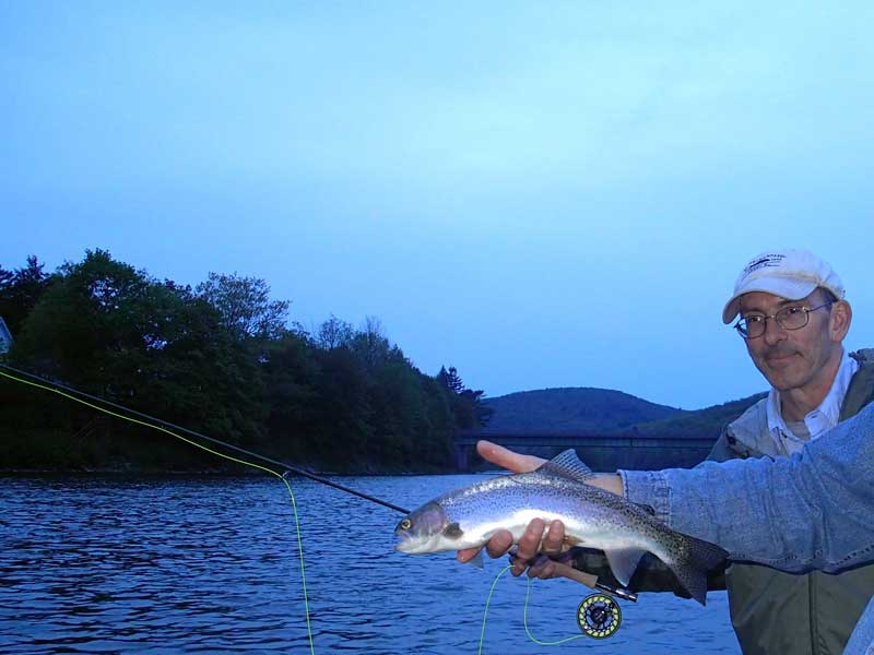 Fly fishing for Rainbow trout with Sweetwater Guide Service
