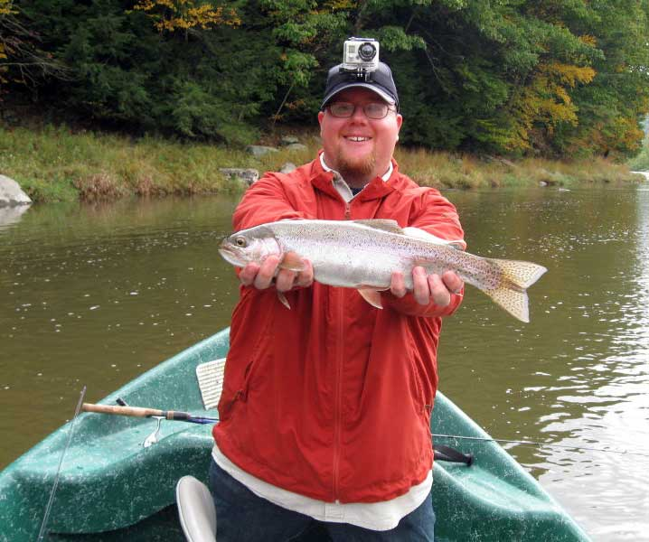 Delaware river Rainbow Trout with Sweetwater Guide Service