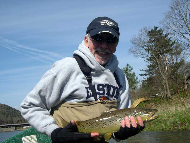 Brown Trout fishing on the Delaware river