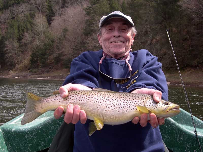 Happy Trout fisherman with Sweetwater Guide Service
