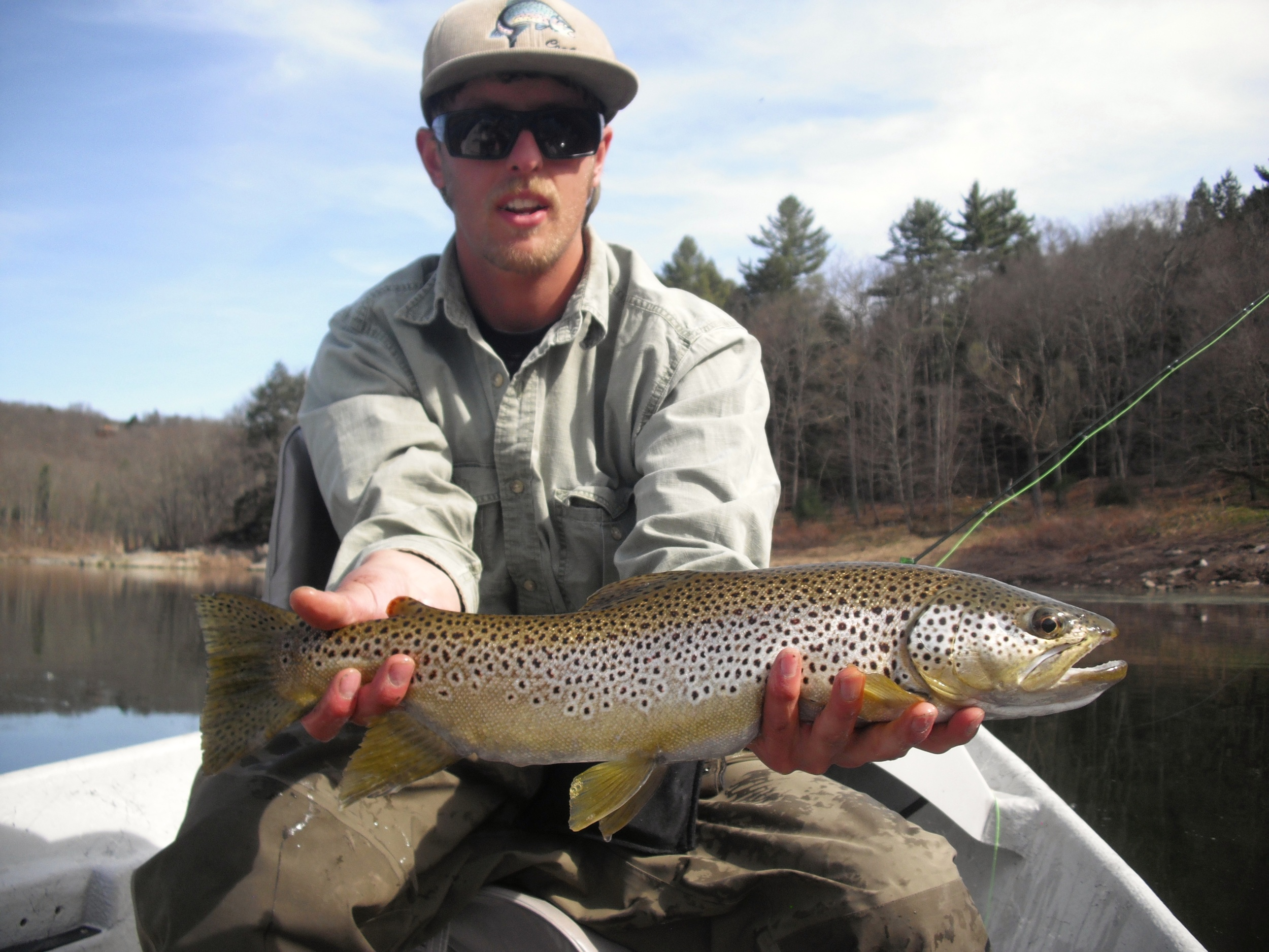 Fly fishing for Brown Trout on the Delaware River