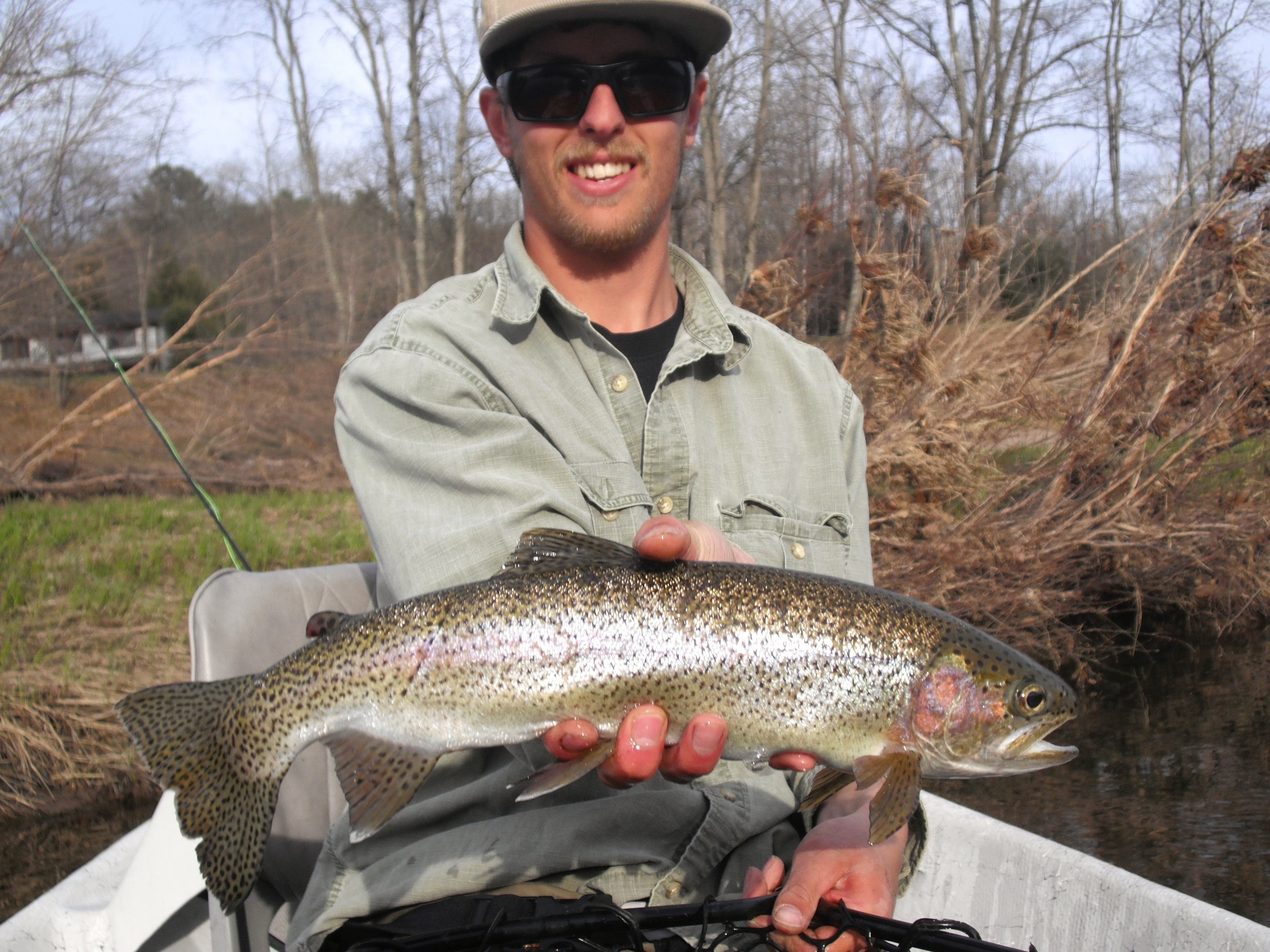 Fly fishing the Delaware river for Rainbow trout
