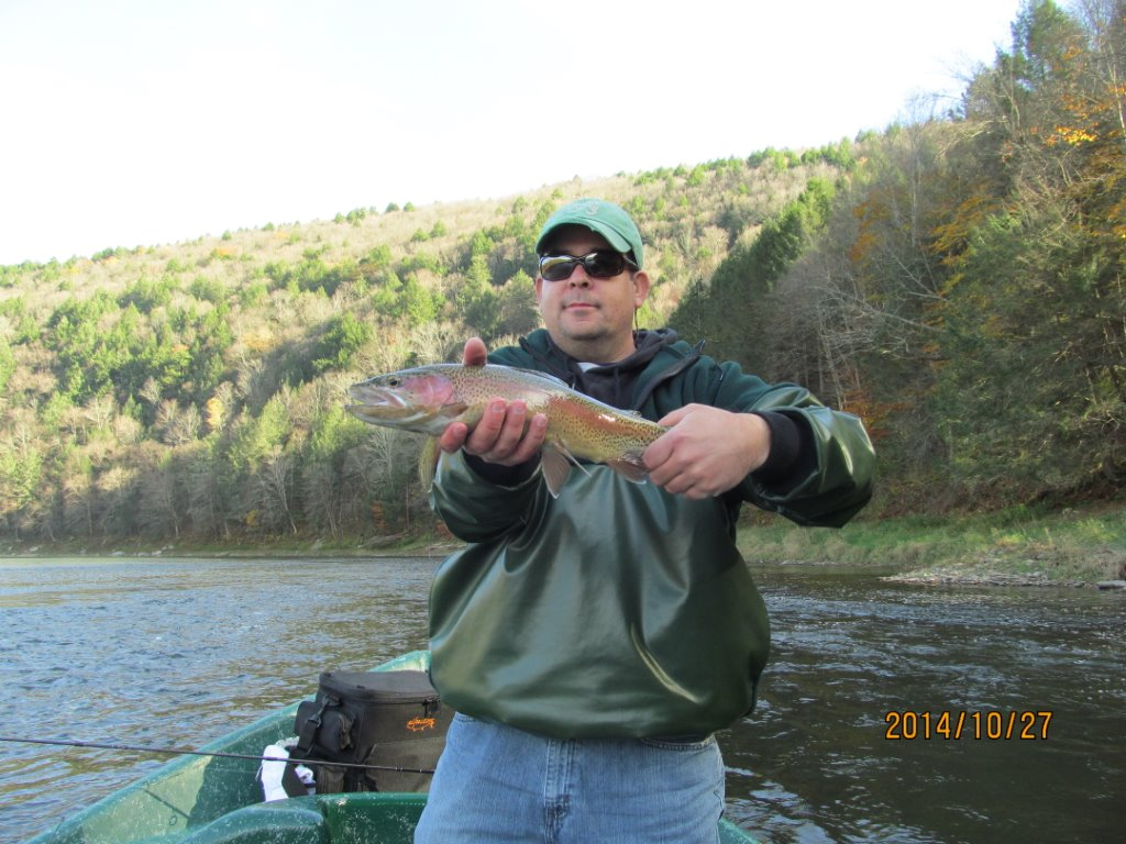 Spin fishing for trout on the Delaware river, Sweetwater Guide Service