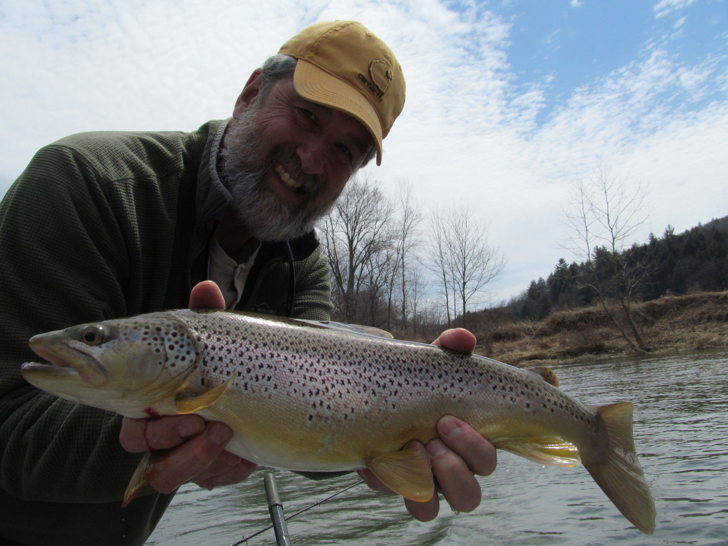 "A chunky 19"" Brown trout for Guide Mike P."