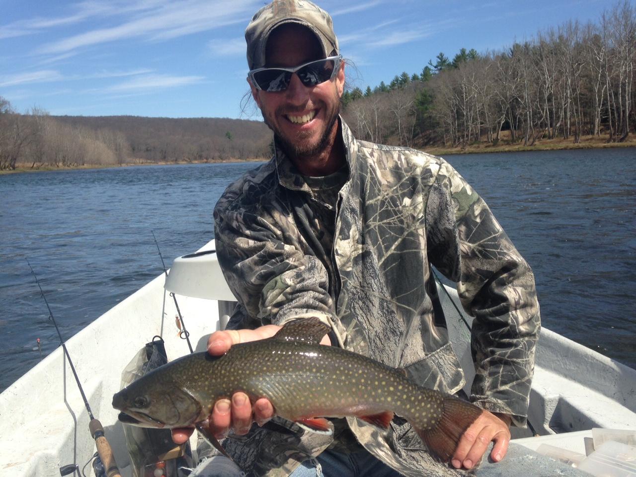 Matt boats this Monster Brook trout!