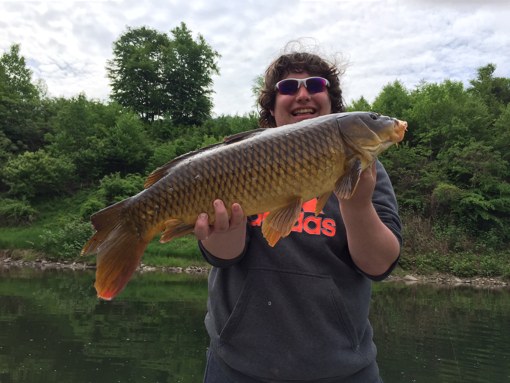 This 10lb Common Carp took a Husky Jerk in 10ft of water!