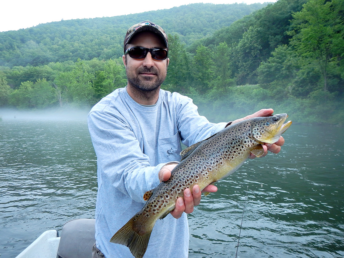 """6/19/15 Ralph D. caught this beauty of a 18"""" brown on an early A.M. float!"""
