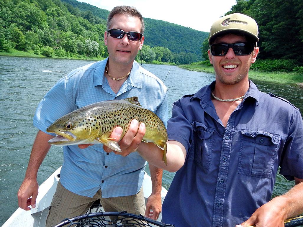 6/19/15 Guide Evan P. holding Steve's nice Brownie!