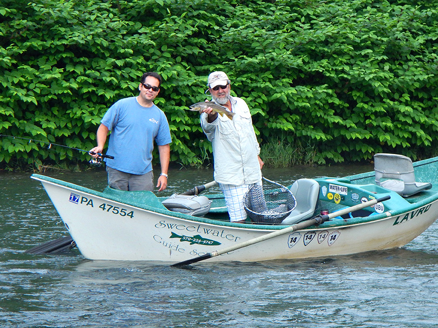 6/19/15 Guide Mike P. holding Dan B's West branch trout!
