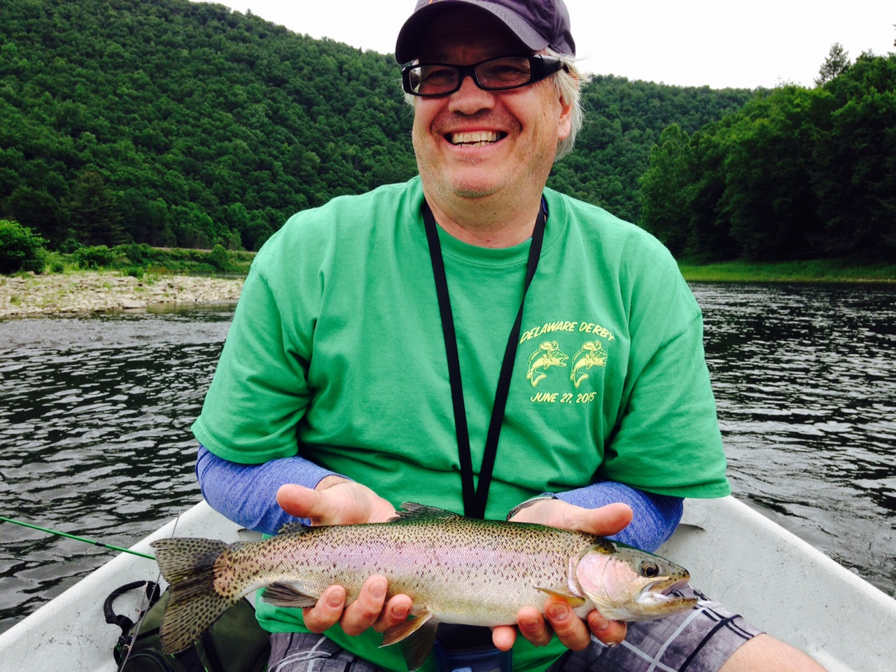 6/20/15 Frank with a beautiful Wild Rainbow trout!