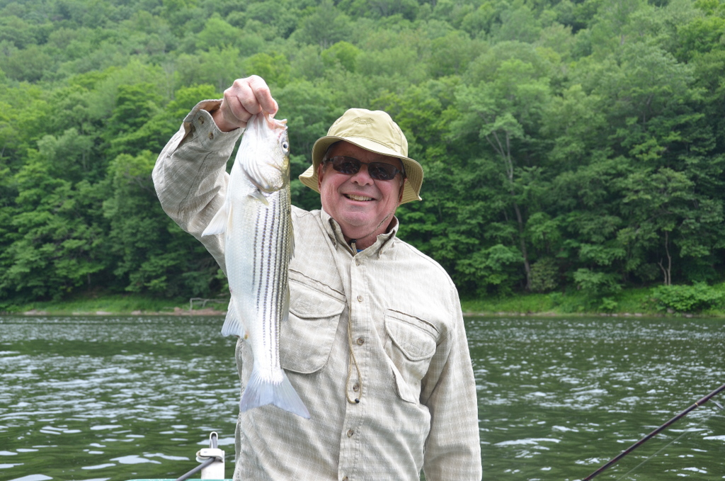 6/20/15 Mark finds this Striped Bass 300 miles from the ocean!