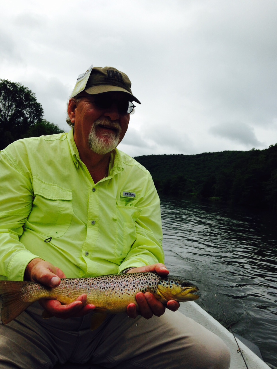 Steve with one of many nice cookie cutter Brown trout!