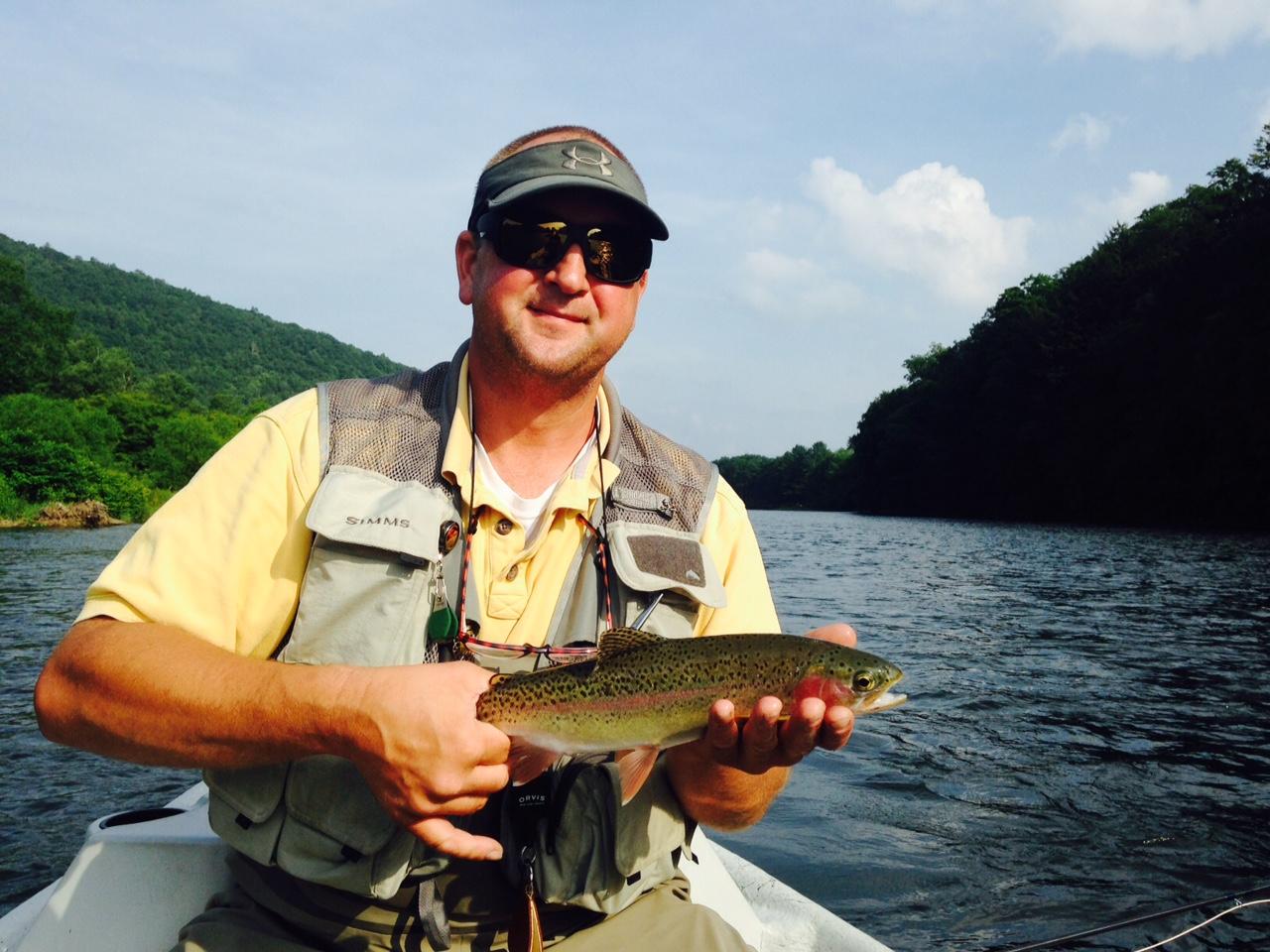 7/6/15 Gene had a nice evening of dry fly fishing. Nicewild Rainbow trout!
