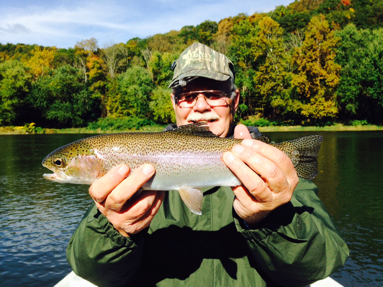 "10/10/15Bob L. Nails this beauty of an 18"" Rainbow on the Main Stem!"