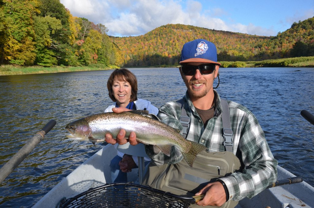 10/10/15Guide Evan P. Displays another beautiful Wild Rainbow trout!