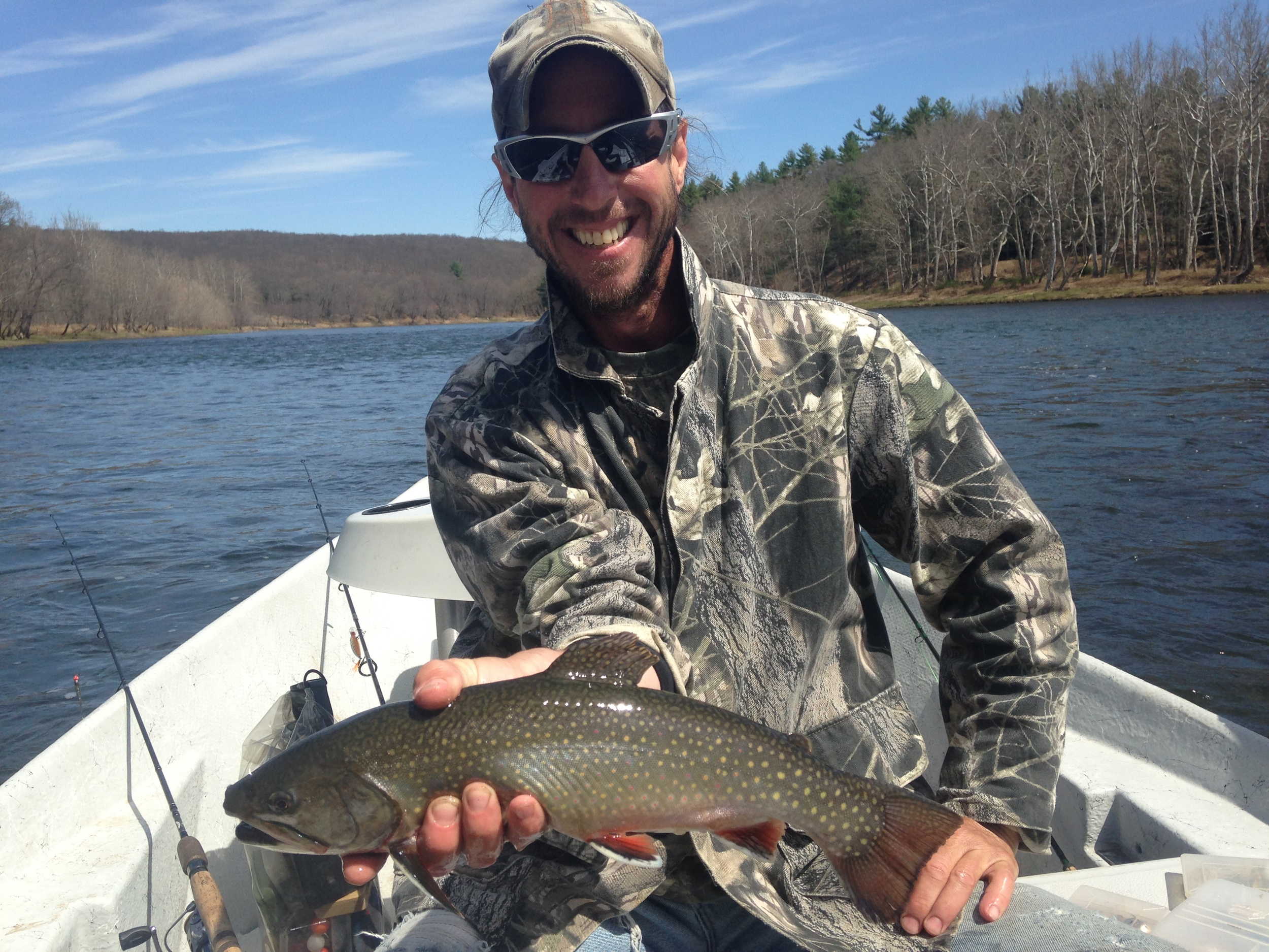 "Matt L. with a 18"" Brook Trout!!"