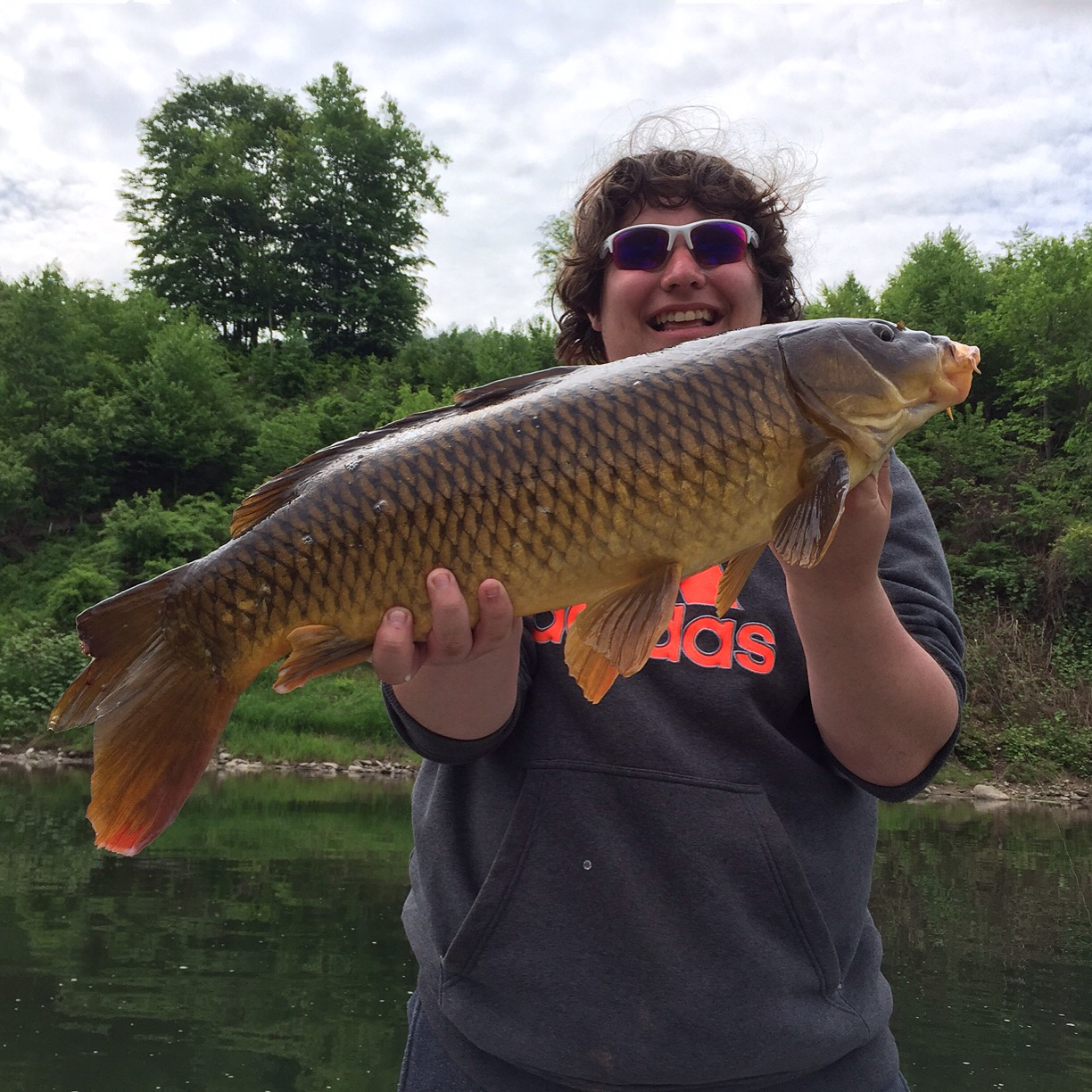 "28"" 10lb Common Carp, caught by Brandon, on a Husky Jerk Rapala."